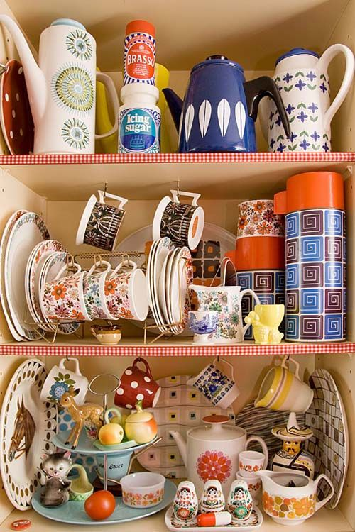 Granny chic -hits the nail on the head for me as this is exactly what my granny had displayed :)