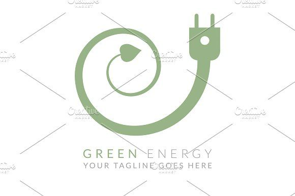Green Energy (Logo Template) by Monsterbox Designs on @creativemarket