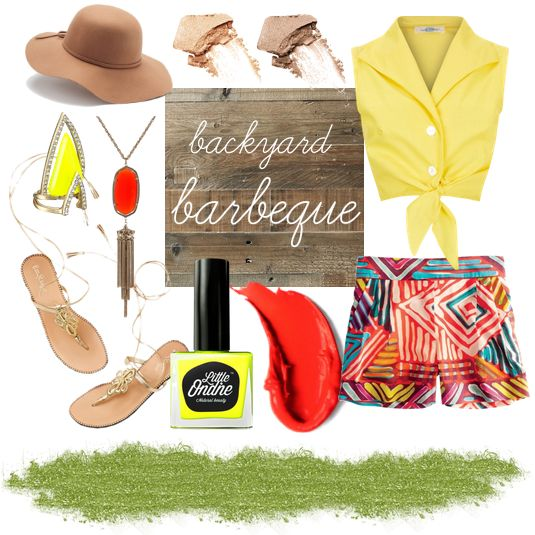 Make the most of lazy sunny afternoons with printed shorts, char-grilled eggpant and Smack, our favourite peel-off neon yellow nail polish.
