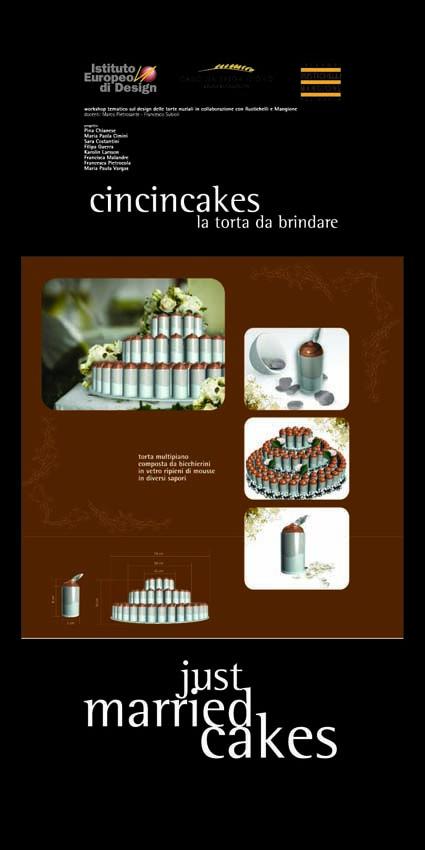 Master Food Design IED Roma 2006 - Just married cakes - 3    #masterfoodesign #iedroma #foodesign #design #food #drink #weddings #kromosoma #francescosubioli