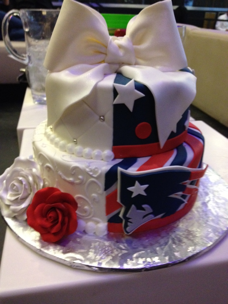 Cake Design England : Our Patriots themed wedding cake. Acre-n-Adrian married in ...