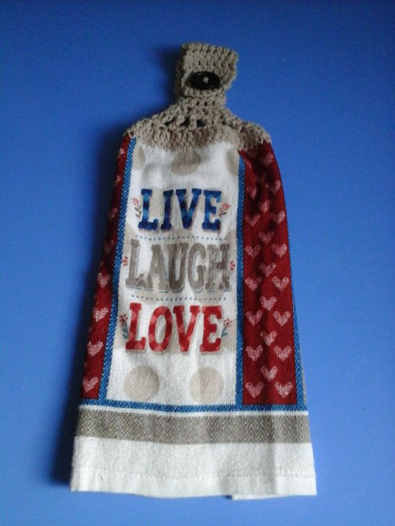 Check out this item in my Etsy shop https://www.etsy.com/listing/264946254/live-laugh-love-double-hanging-crocheted