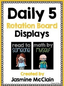 Free Daily 5 Rotation Board Displays for Reading and Math created by Jasmine McClain