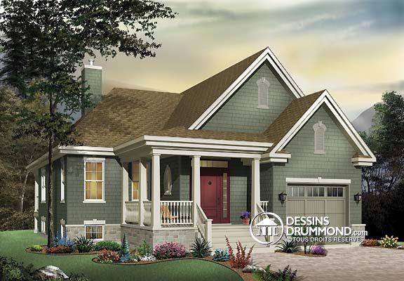 Plan de maison unifamiliale w3219 l ments distinctifs - Entree de maison avec escalier ...