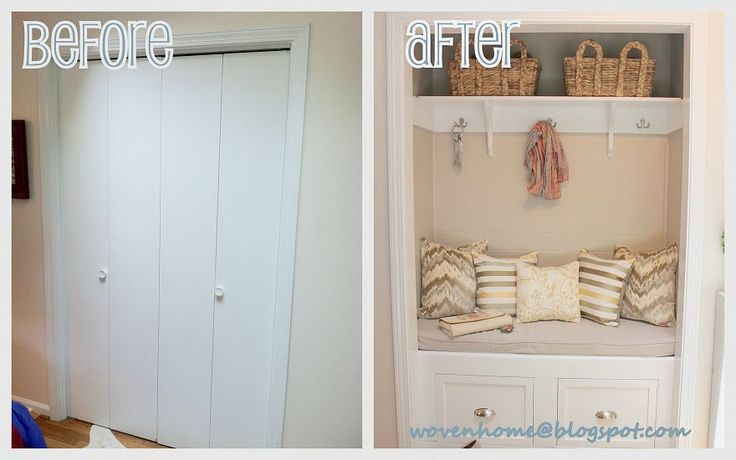 amazing - ugly closet transform to beautiful entry space.