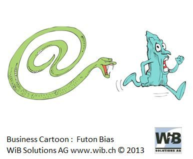 Business Cartoon Futon Bias by WiBi and WiB Solutions Switzerland. Check for more on management thinking mistakes at www.managementthinkingmistakes.ch