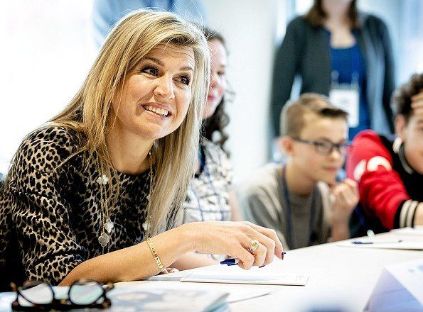 Queen Maxima attends the 2017 Global Money Week