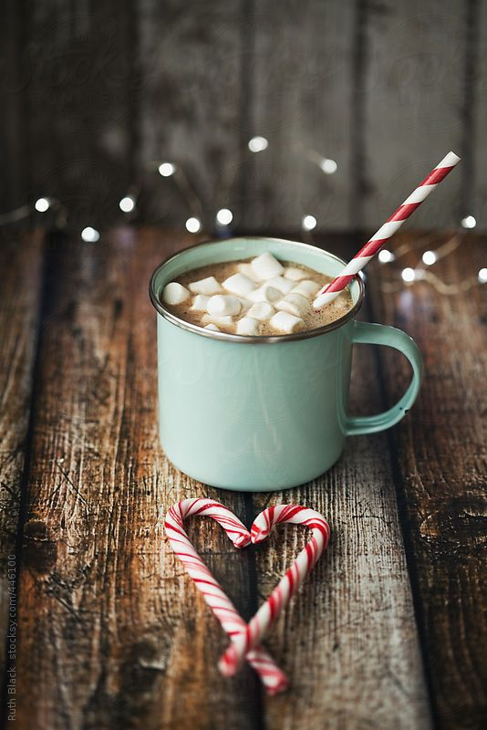Hot chocolate in an enamel mug by Ruth Black