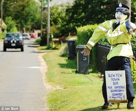 Scarecrow arrested in Brancaster for impersonating a police officer, Brancaster 2009