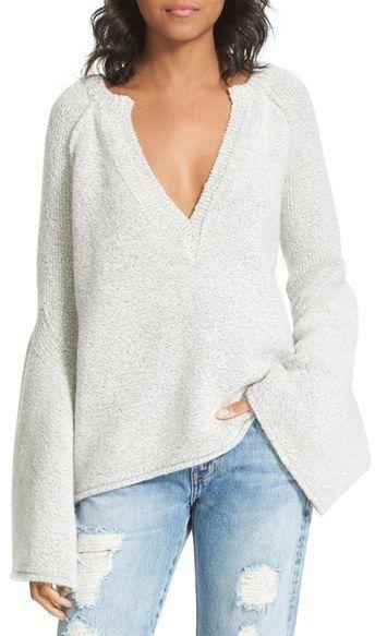 Women's Free People Lovely Lines Bell Sleeve Sweater