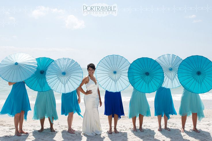 Florida Beach wedding   portrayable photography