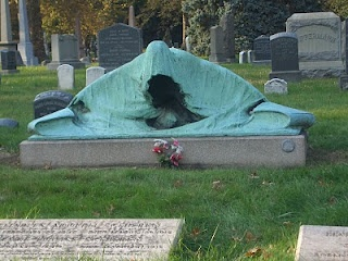 "The ""Angel of Death"" marks the graves of Charles Schieren, the next-to-last mayor of Brooklyn, and his wife Mary Louise. The Schierens died from pneumonia within 24 hours of one another in 1915.    Considered one of the world's foremost cemeteries, Green-Wood Cemetery –located in Brooklyn, New York - was established in 1838."