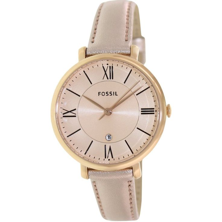 Fossil Women's Jacqueline Three-Hand Leather Watch | Overstock.com Shopping - Big Discounts on Fossil Women's Fossil Watches