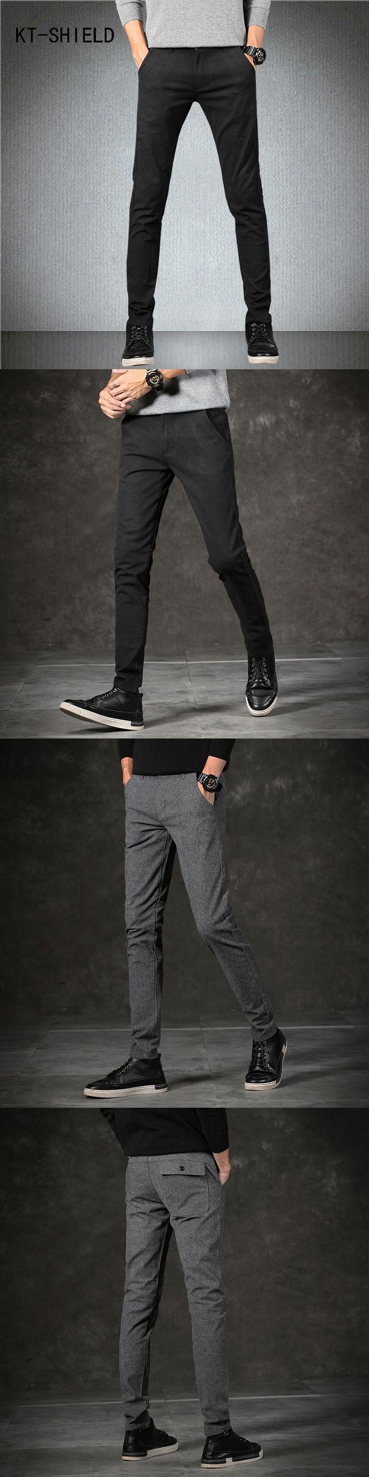 Famous brand autumn Linen Stretch Casual Pants Mens Slim fit Business hombre cargo trousers cotton skinny Joggers pantalon homme
