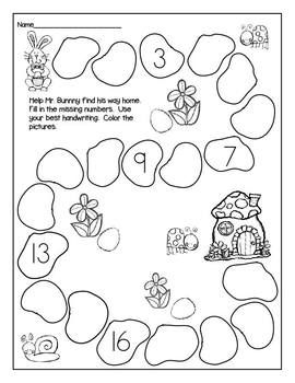 Print and Go! Easter Math and Literacy (NO PREP
