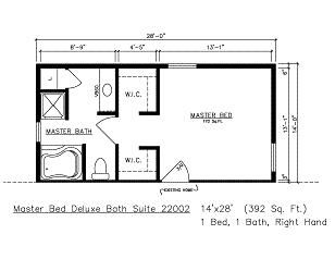 House Additions Floor Plans For Master Suite Building Modular - Master bedroom and bathroom floor plans