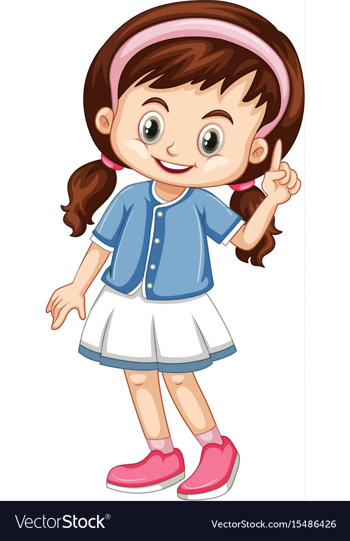 Little Girl Pointing Finger Up Illustration Download A Free Preview Or High Quality Adobe Illustrator Ai Art Drawings For Kids Cartoon Kids Kindergarten Kids