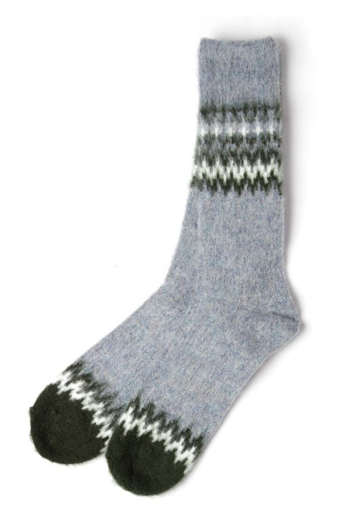 Anonymous Ism Wool Nordic Crew Socks Blue Forest – Bridge & Burn. Men's ...