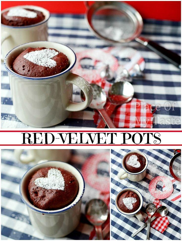 RED-VELVET CAKE POTS FOR YOUR VALENTINE