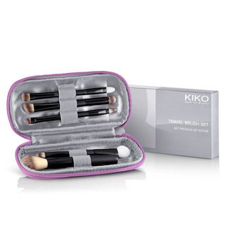 KIKO MAKE UP MILANO: Travel Brush Set - kit de pinceaux de voyage pour le visage, les yeux et les lèvres