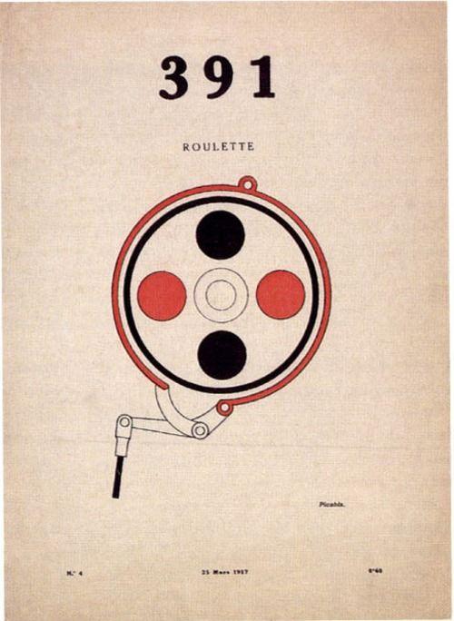 Dada et dadaïsme : 391-PICABIA > rcherche la ligne sur affiche
