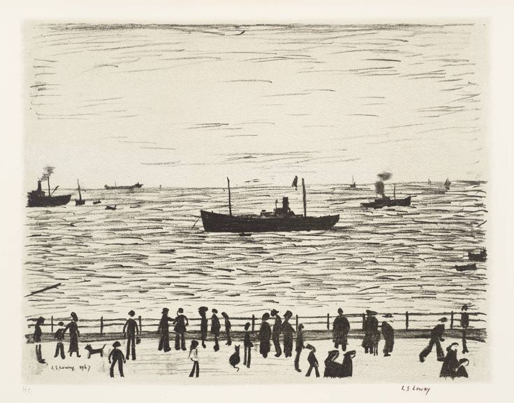 Seaside Promenade  Date  1967-8  Medium  Lithograph on paper