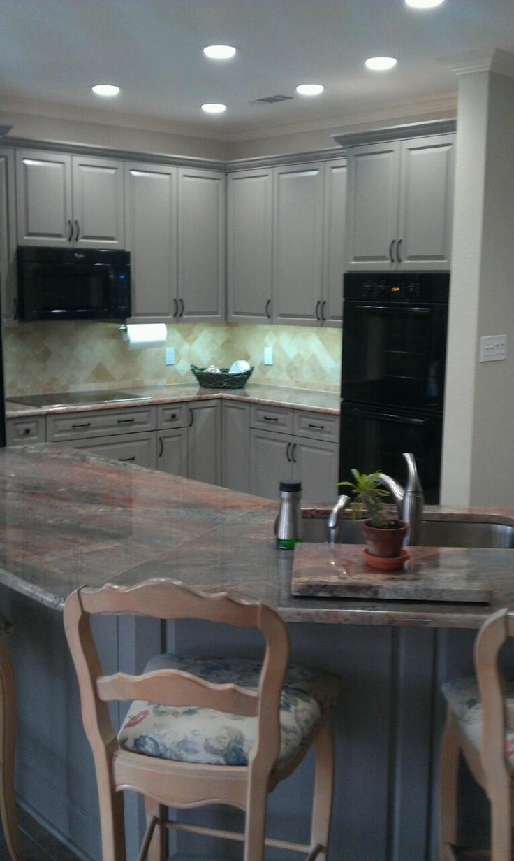 3cm Fire Bordeaux Natural Granite Countertops Provided By