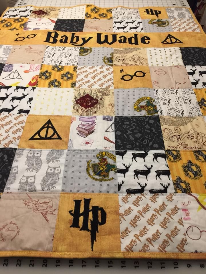 Harry Potter Hufflepuff Baby Quilt Harry Potter Baby
