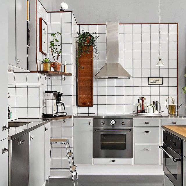 fouremptywalls's photo on Instagram, kitchen, reotro, white grey, scandinavian