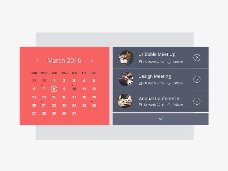 Calendar Web Widget : Best ideas about event calendar on pinterest