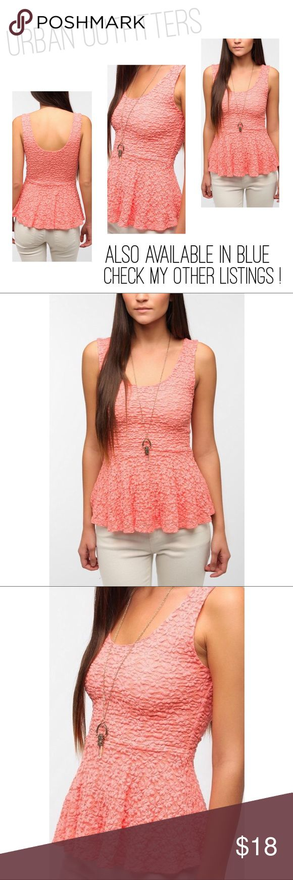 URBAN OUTFITTERS Pins & Needles Daisy Peplum Top .Urban Outfitters! Super-soft knit tank top from Pins and Needles. Lightweight construction with a daisy lace overlay. Topped with a skirted peplum at the waist. Scoop neck in front and back. Cut in a fitted silhouette. Nylon/Rayon/Spandex. Great condition! Worn twice! As seen on Ariana Grande! 😎 Urban Outfitters Tops