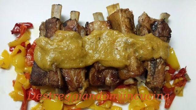 Destreggiandomi in cucina: Costine in bianco con salsa alle verdure #risb #costine #spuntature #slowcooker