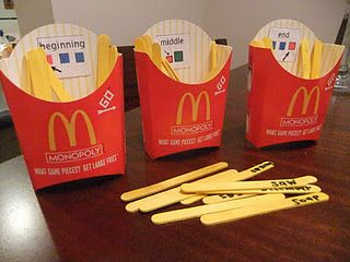 French Fry Game. ~ Looks great for identifying initial, medial and final sounds. Would work great for multisyllabic words too ~ while targeting a specific speech sound at the same time :) Repinned by SOS Inc. Resources. Follow all our boards at http://pinterest.com/sostherapy for therapy resources.