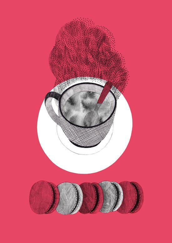 Une illustration dans le nouveau Feuilleton pour un texte de George Orwell,  Une bonne tasse de thé.