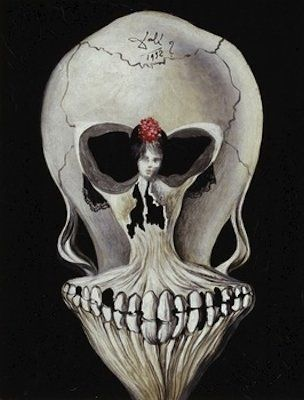 Ballerine et tête de mort, par Salvador Dali