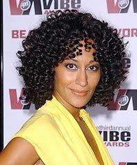 Natural Curly Hair With Bangs