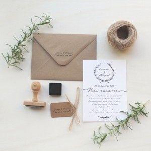invitaciones de boda para bodas sencillas bonitas - rama natural romero