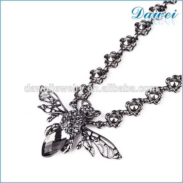 wholesale latest design big ant pendant with crystal choker necklace in roman