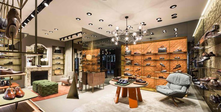 The new Santoni boutique - 36 Avenue George V, Paris.  #Santoni #SantoniShoes #Paris