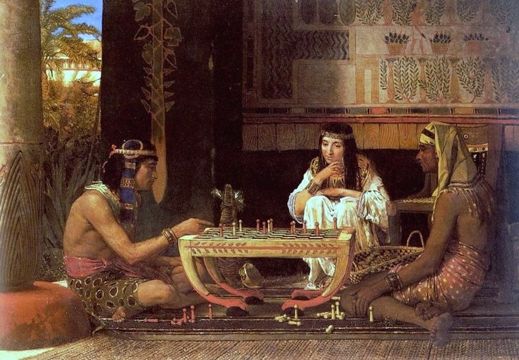 Alma-Tadema, Sir Lawrence (b,1836)- Egyptian Chess Players -2b