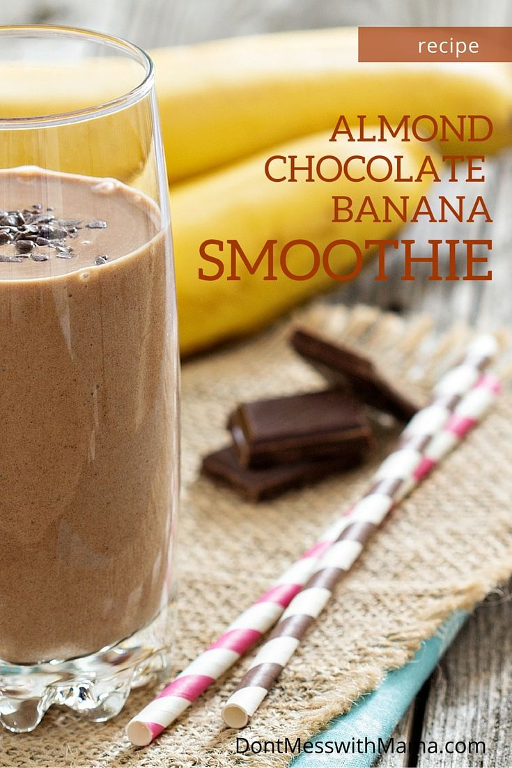 Almond Butter Banana Smoothie - this delicious and filling smoothie will keep you satiated - great as a meal replacement, breakfast or snack - gluten free, Paleo, vegan - DontMesswithMama.com