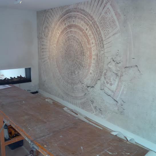 wall and deco klant mandala wdma1402 licht  fotobehang