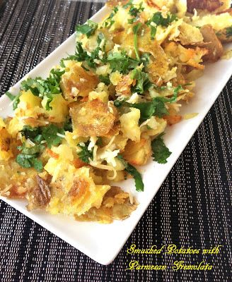 Eaterspot: Smashed Potatoes with Parmesan Gremolata | Recipes ...