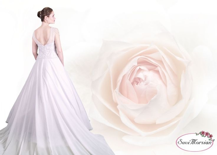 Hääpuku Beadtrice, A beaded wedding dress Beadtrice, SuviMorsian collection