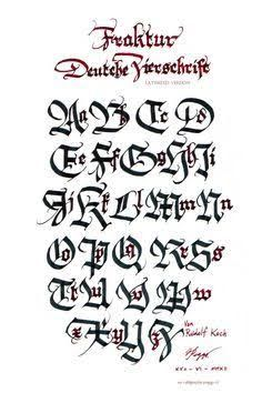 Image result for caligrafia gotica de fractura