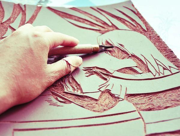 Best images about art lino cuts wood block prints