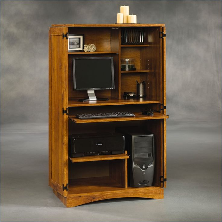1000 ideas about computer armoire on pinterest armoires for Mueble para computadora