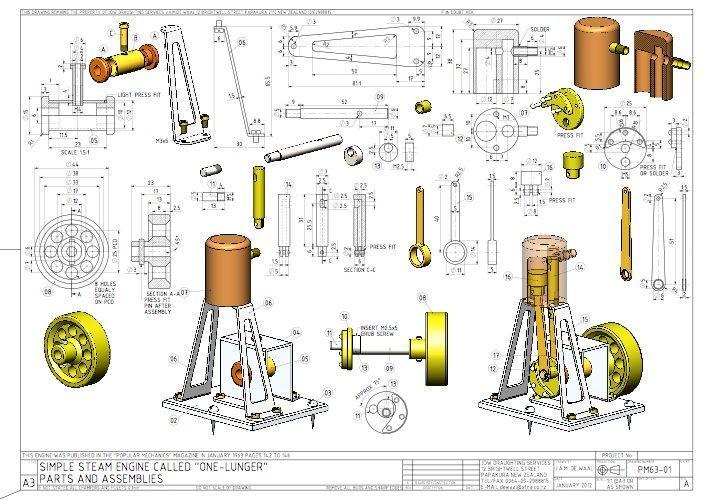 mini steam engine blueprints Cerca con Google