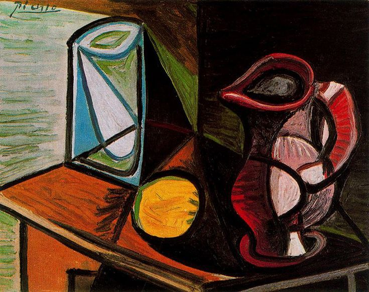 Glass and pitcher,  Artist: Pablo Picasso Completion Date: 1944