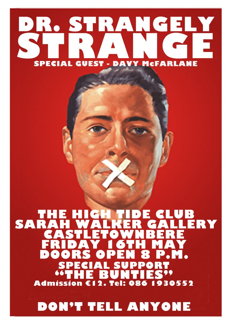 Dr. Strangely Strange play at The High Tide Club Friday 16th May @ 8pm.  Admission €12.